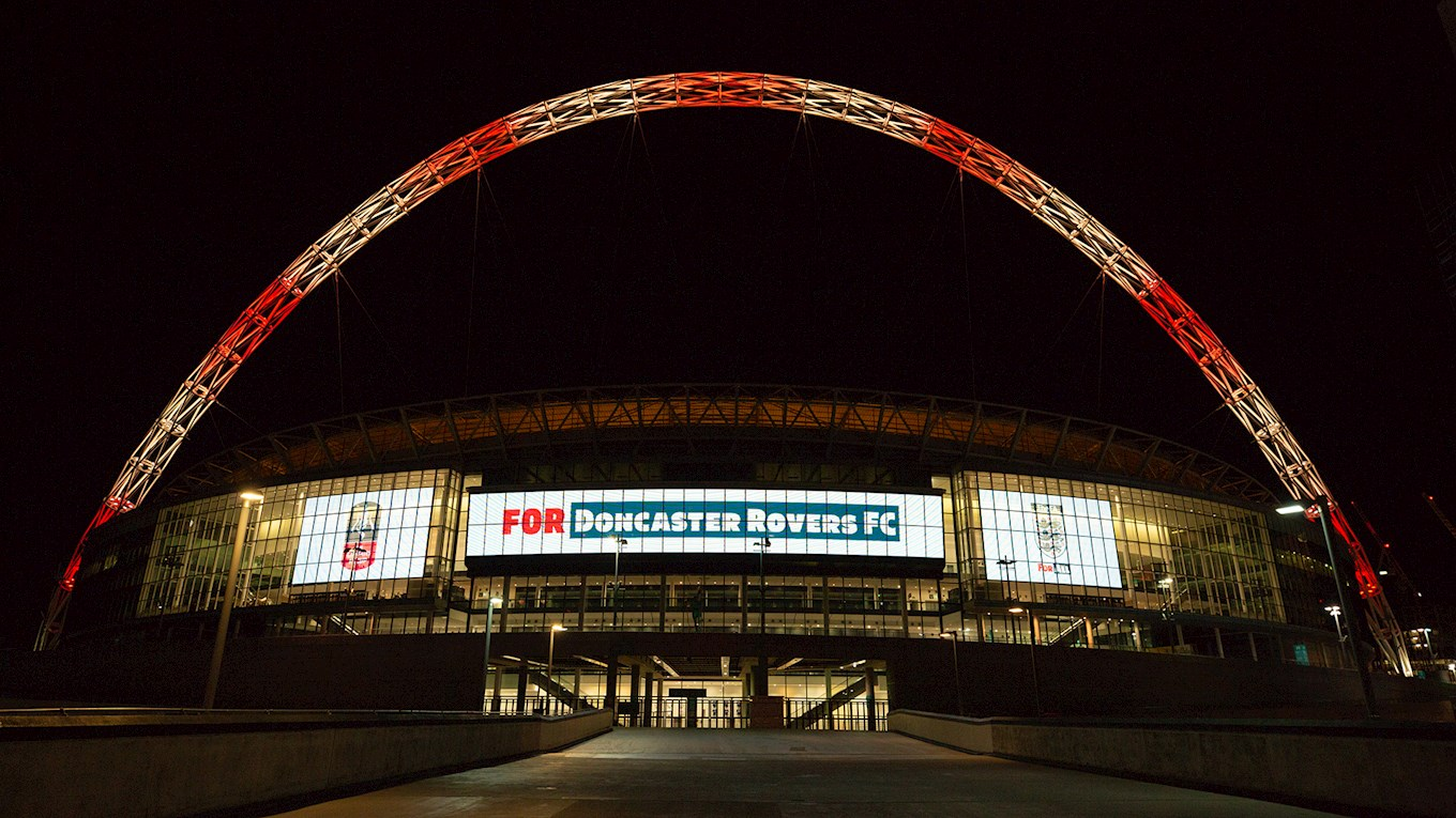 rovers feature on wembley arch - news