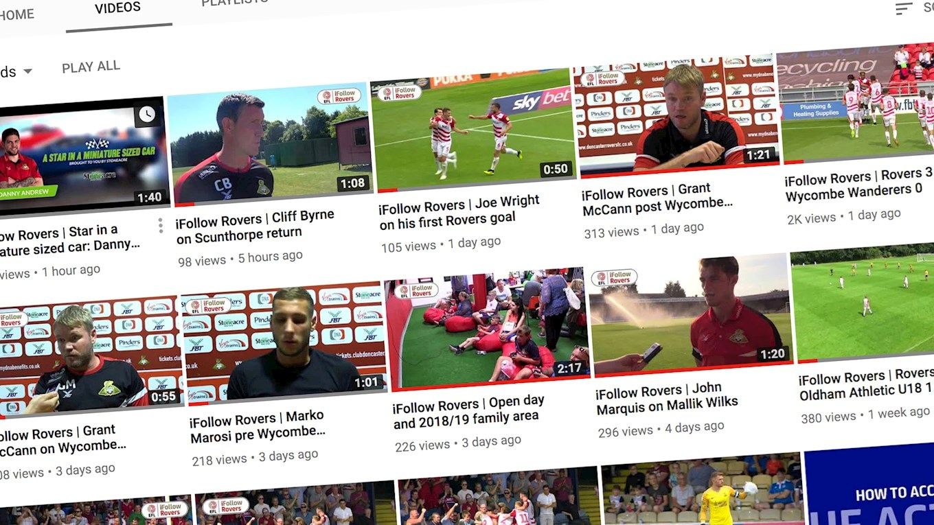 Landmark for Rovers' YouTube channel | News | Doncaster Rovers